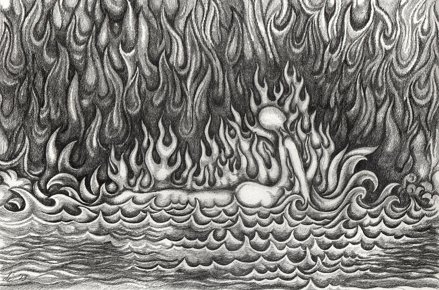 Water Drawing - Untitled 33 by Diana Durr