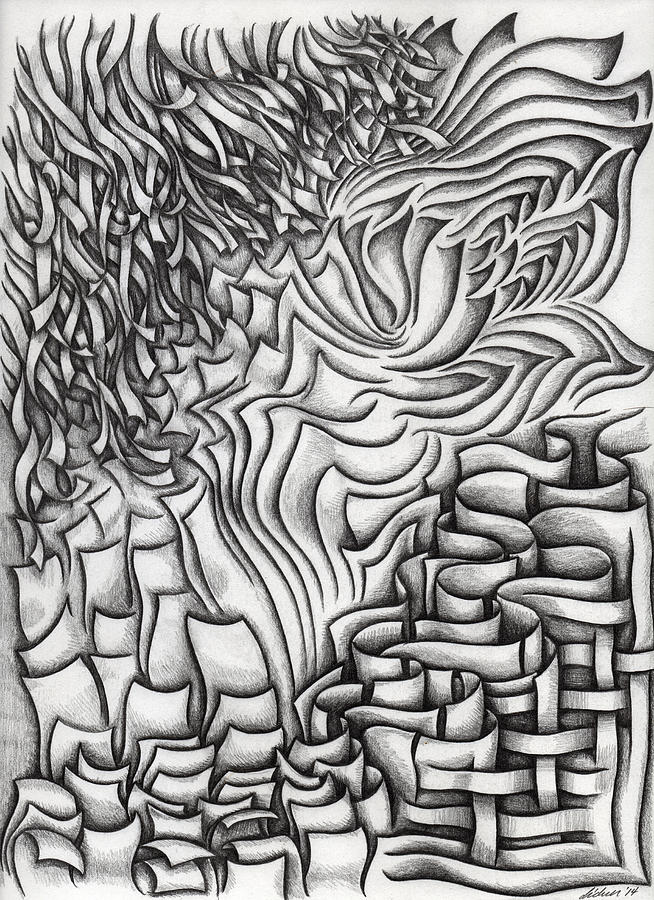 Abstract Drawing - Untitled 39 by Diana Durr
