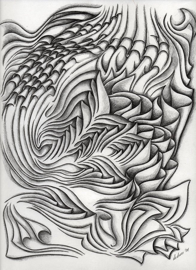 Black Drawing - Untitled 40 by Diana Durr