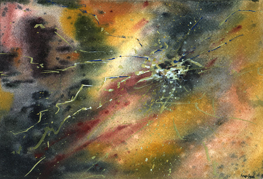 Abstract Painting - Untitled Abstract 122-12 by Sean Seal