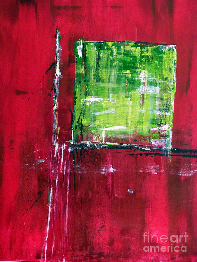 Paintings Painting - Untitled- Abstract  by Ismeta Gruenwald