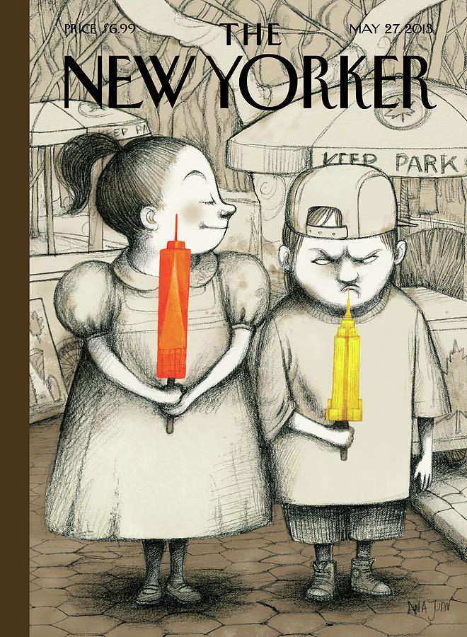 New Yorker May 27th, 2013 Painting by Ana Juan