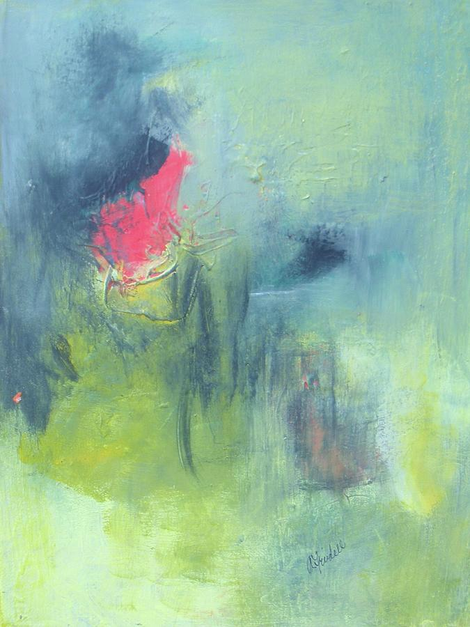 Green And Blue Painting - Untitled by Andrea Friedell