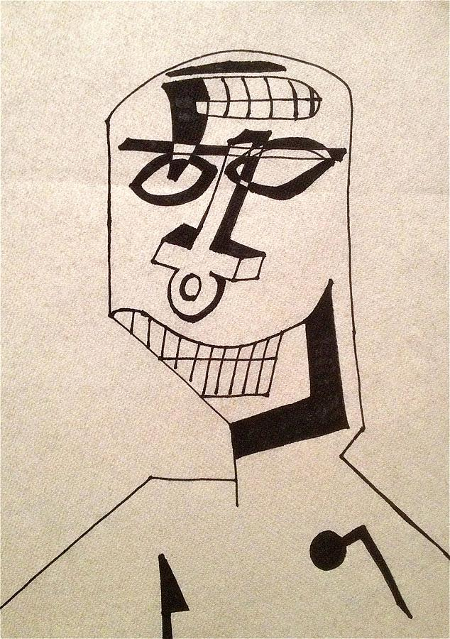 Untitled Drawing - Untitled - Ankh by Adam Marx