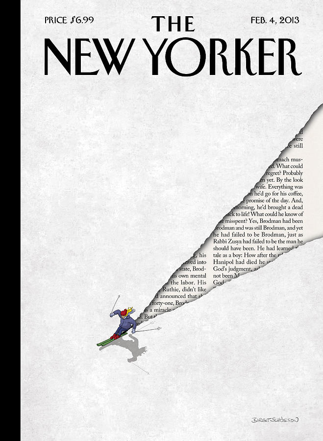 New Yorker February 4th, 2013 Painting by Birgit Schoessow