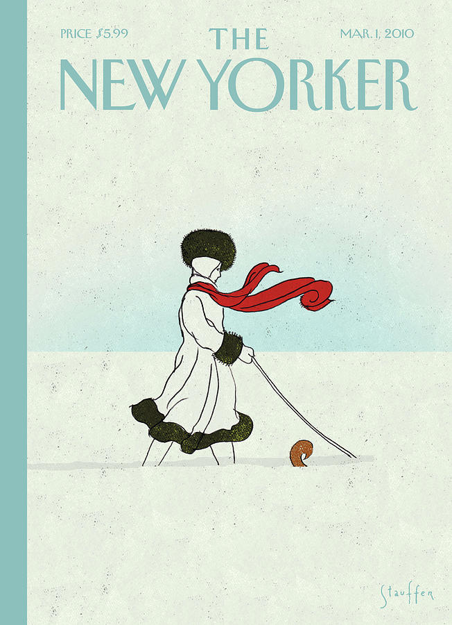 Snow Painting - New Yorker March 1st, 2010 by Brian Stauffer