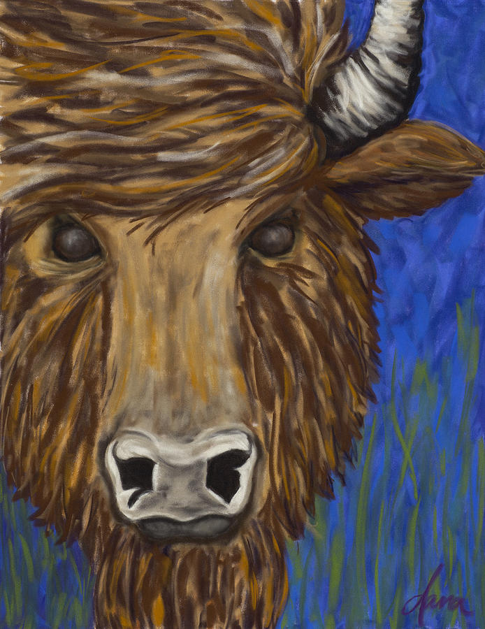 Buffalo Pastel - Untitled Buffalo 1 by Dana Strotheide