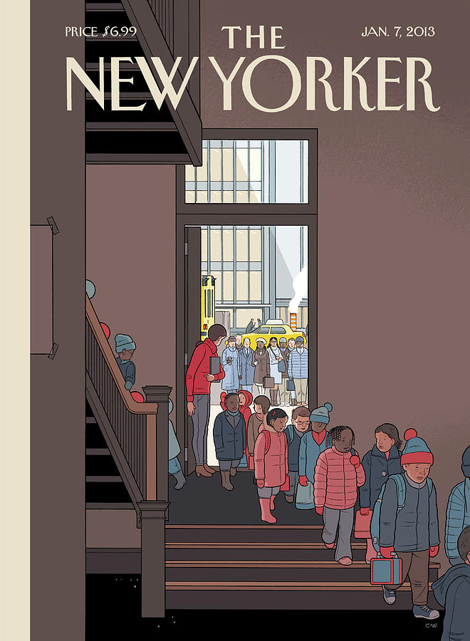 New Yorker January 7th, 2013 Painting by Chris Ware