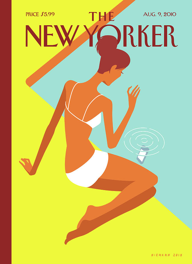 New Yorker August 9th, 2010 Painting by Christoph Niemann