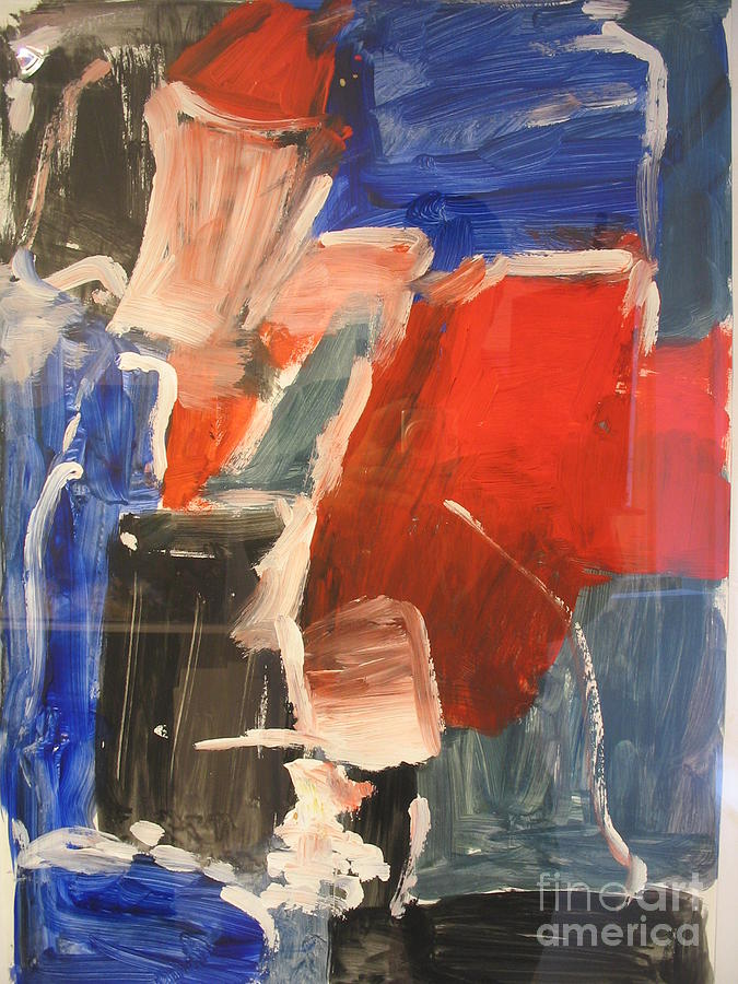 Abstract Painting - Untitled Composition I by Fereshteh Stoecklein