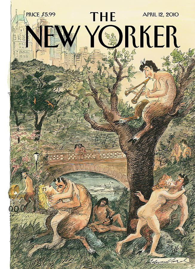 New Yorker April 12th, 2010 Painting by Edward Sorel