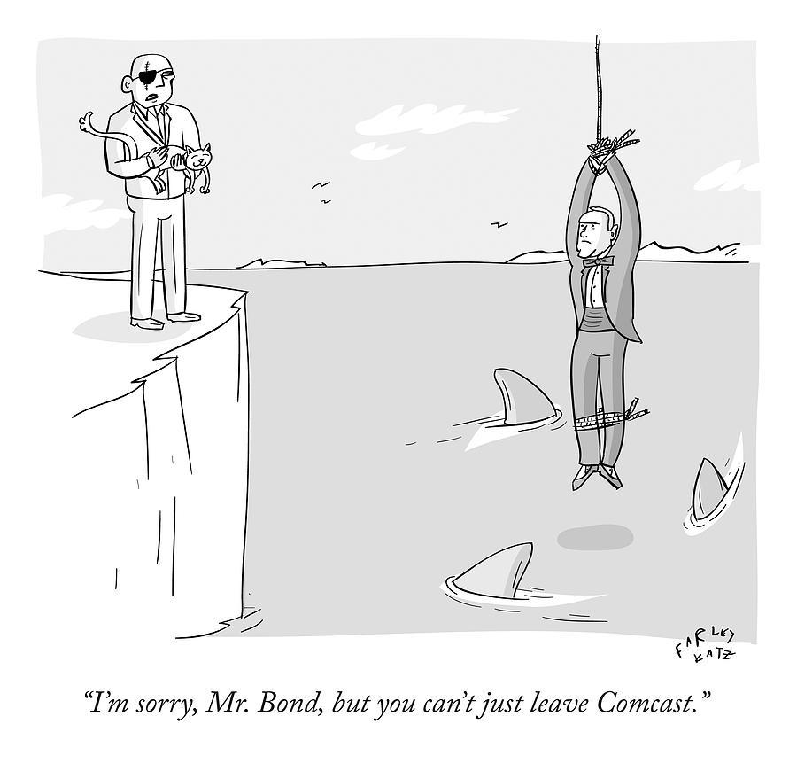 Im Sorry Mr. Bond Drawing by Farley Katz