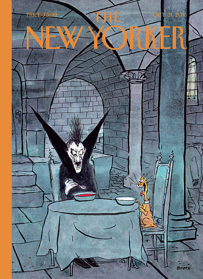 New Yorker October 31st, 2011 Painting by George Booth