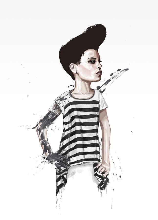 Girl Digital Art - untitled II by Balazs Solti