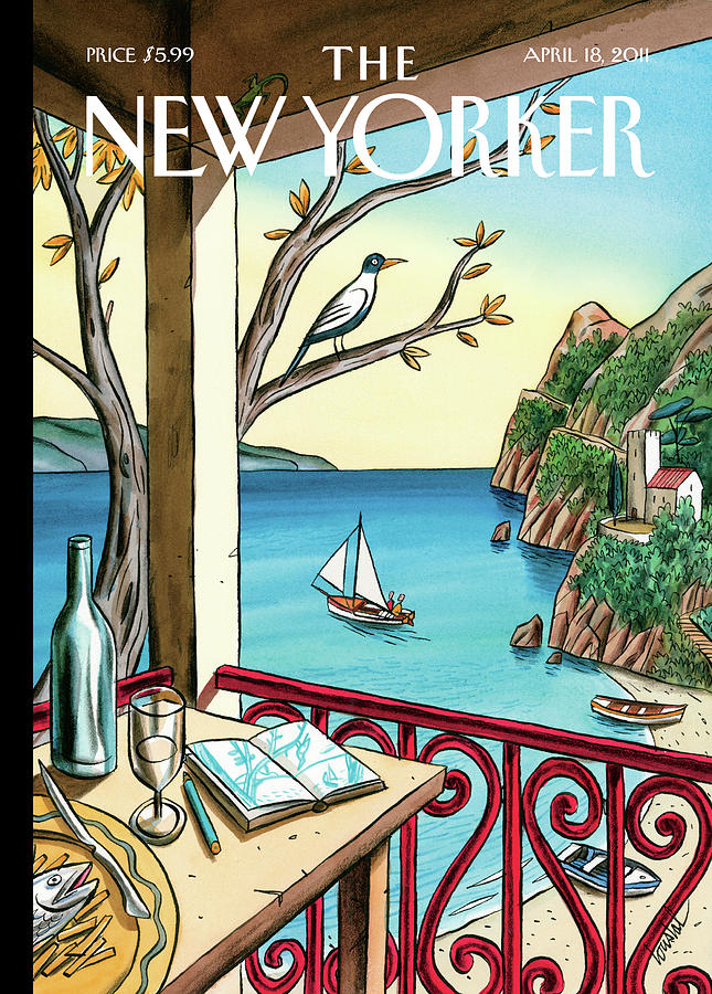 New Yorker April 18th, 2011 Painting by Jacques de Loustal