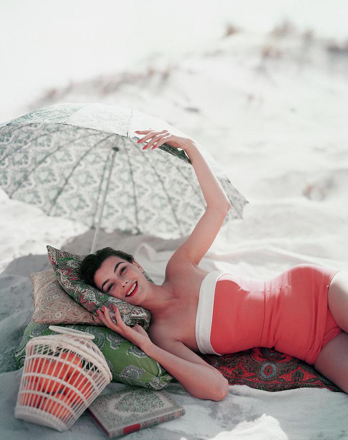 Vogue July 1st, 1954 Photograph by Karen Radkai