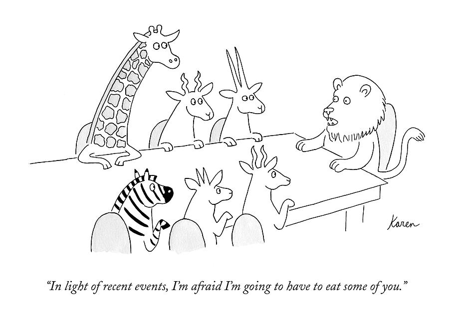 In Light Of Recent Events Drawing by Karen Sneider