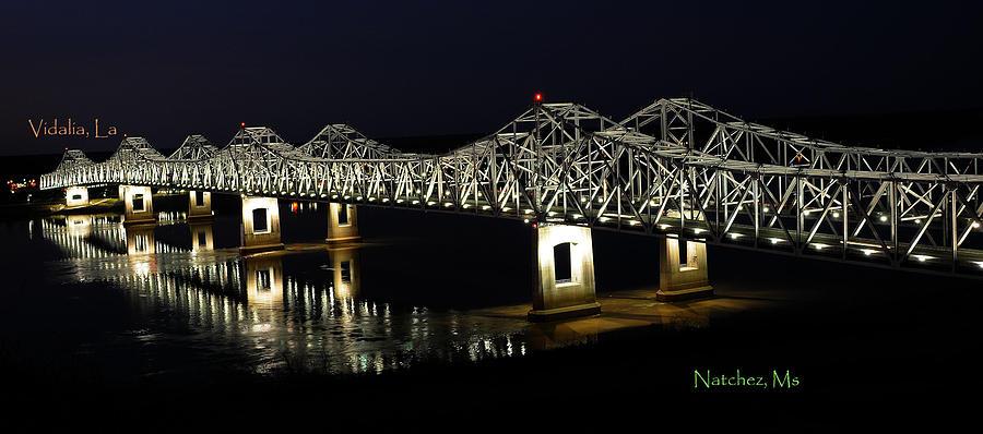 Bridges Photograph - Natchez Bridges by Leon Hollins III
