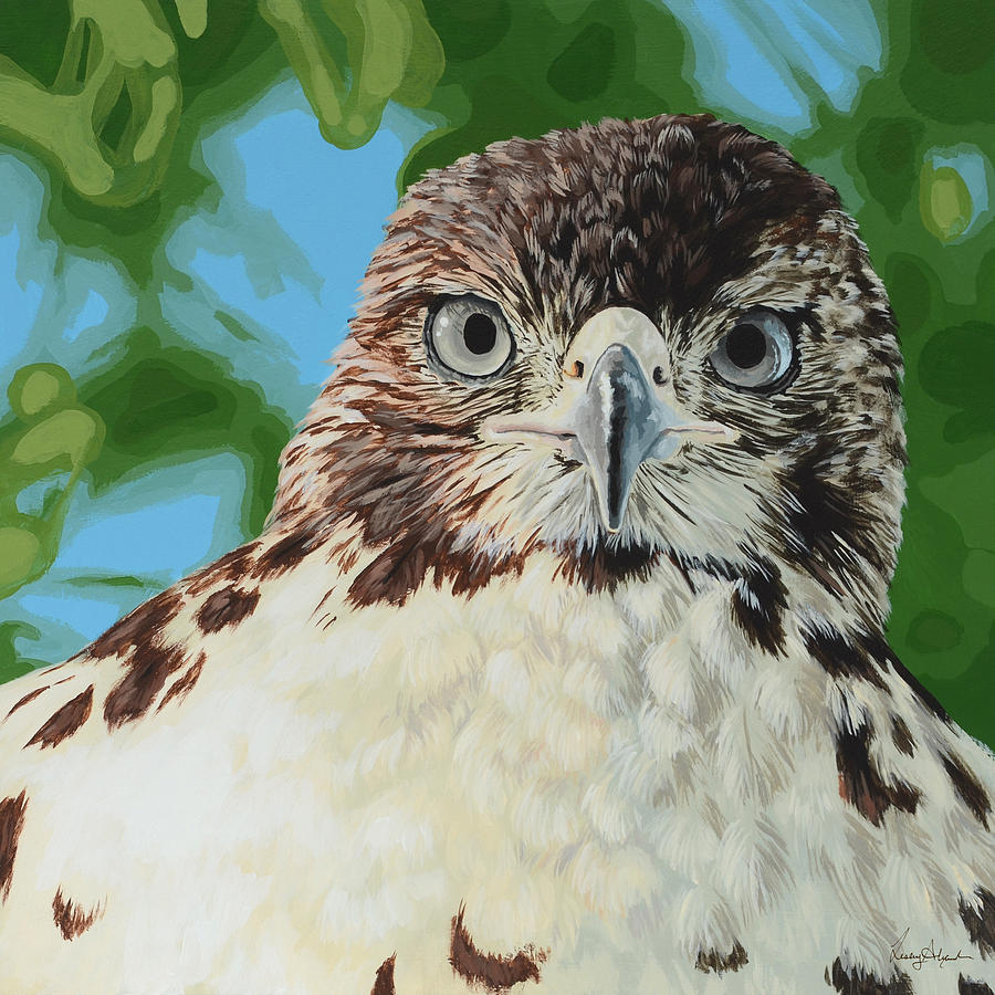 Bird Painting - Untitled by Lesley Alexander