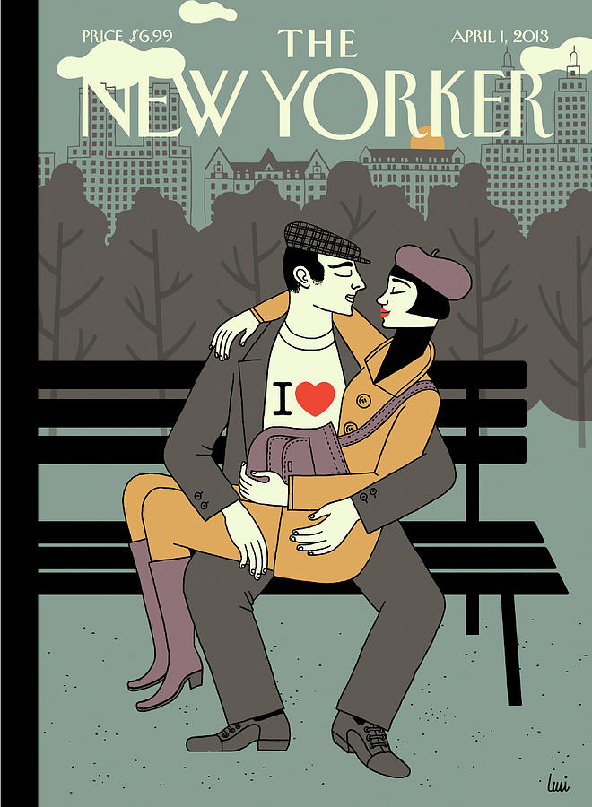 New Yorker April 1st, 2013 Painting by Luci Gutierrez