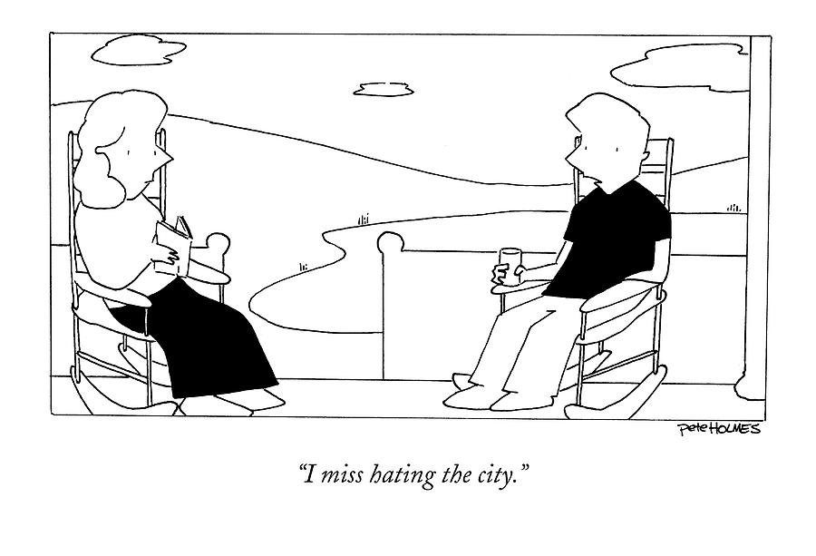I Miss Hating The City Drawing by Pete Holmes