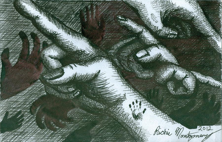 Hands Painting - Untitled  by Richie Montgomery