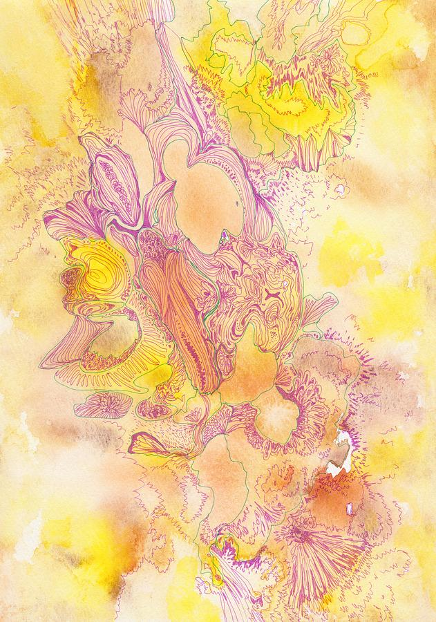 Flower Drawing - Untitled - #ss13dw041 by Satomi Sugimoto