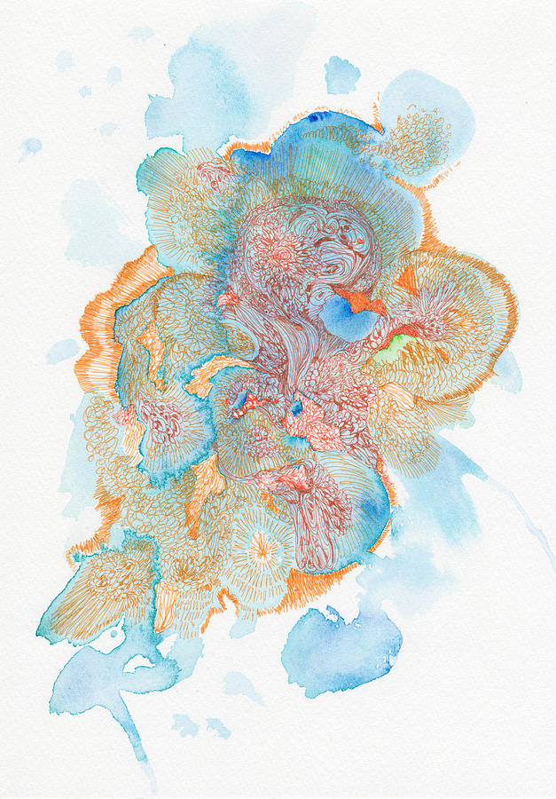 Water Drawing - Untitled - #ss14dw004  by Satomi Sugimoto
