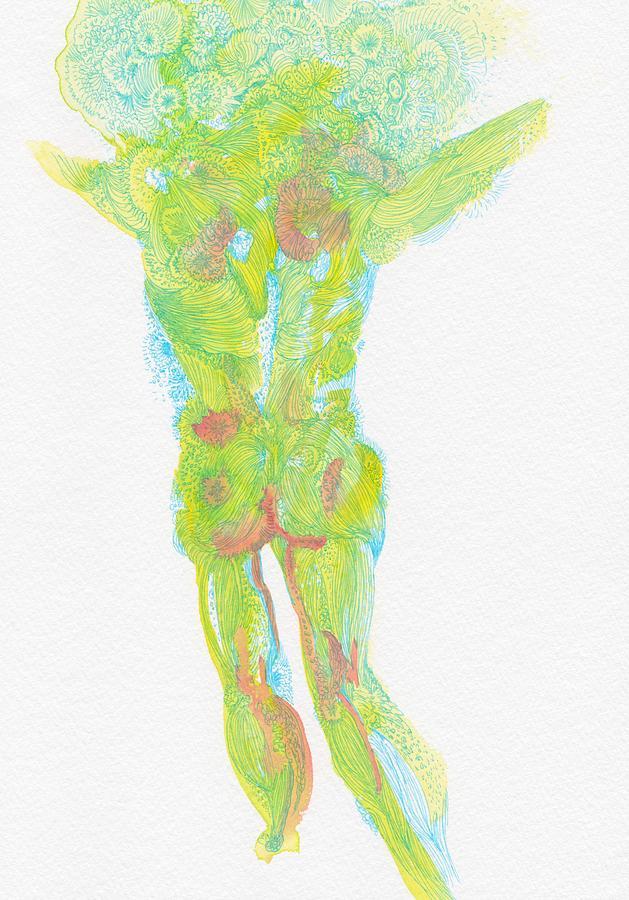 Organic Drawing - Untitled - #ss14dw084 by Satomi Sugimoto