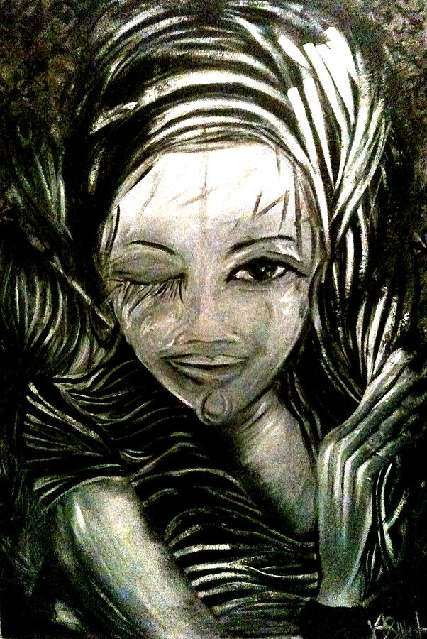 Predictions Painting - Untitled -the Seer by Juliann Sweet