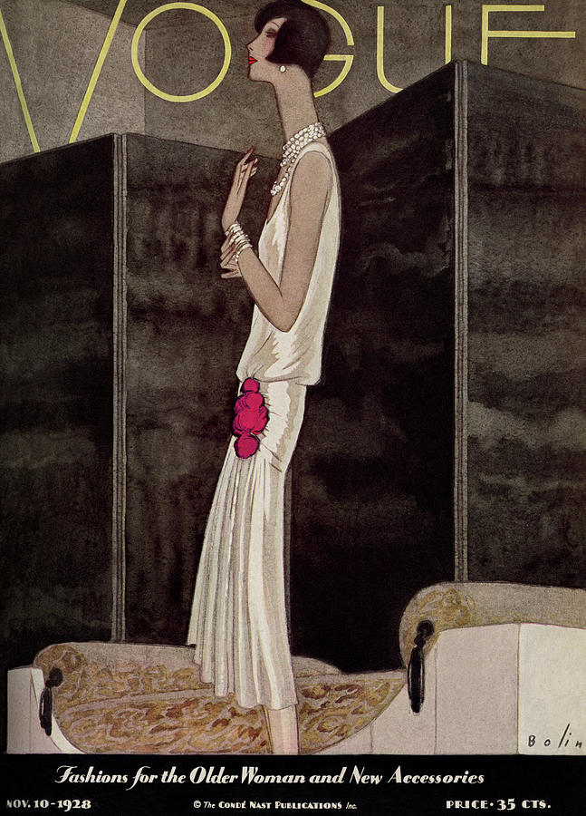 Vogue November 10th, 1928 Painting by William Bolin