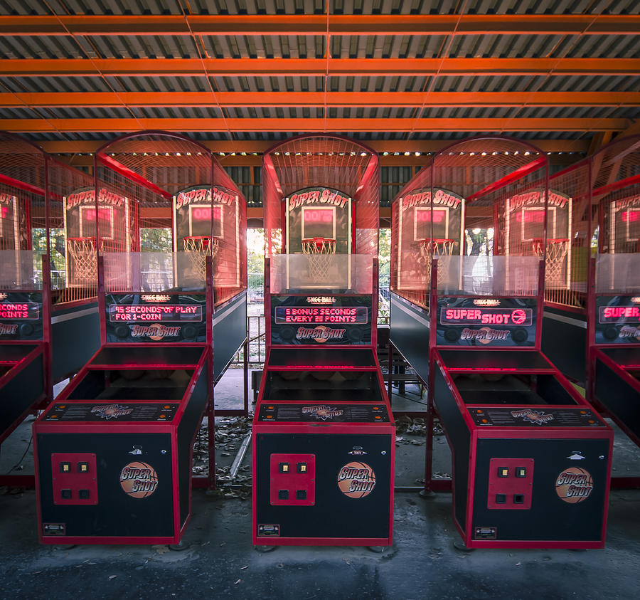 Game Machine Amusement Park Photograph - Unused by Akos Kozari