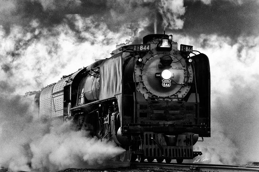 Locomotive Photograph - Up 844 Steaming It Up by Bill Kesler