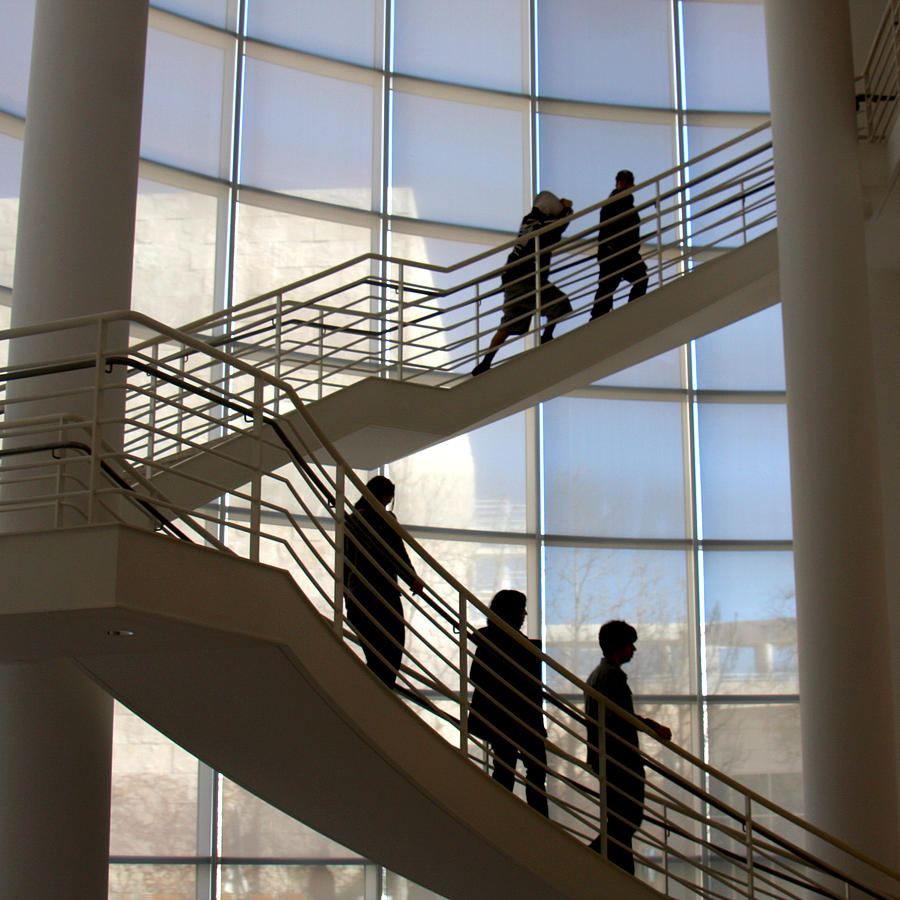 Stair Photograph - Up And Down by Art Block Collections