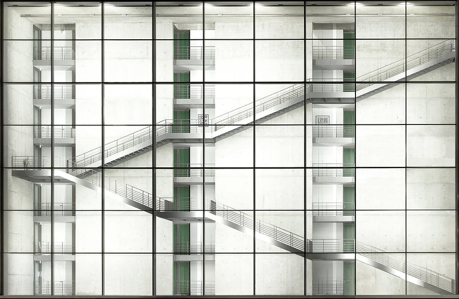 Architecture Photograph - Up And Down by Kay Pk