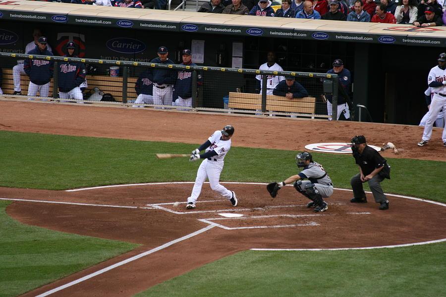 Baseball Photograph - Up At Bat by Jaymes Grossman