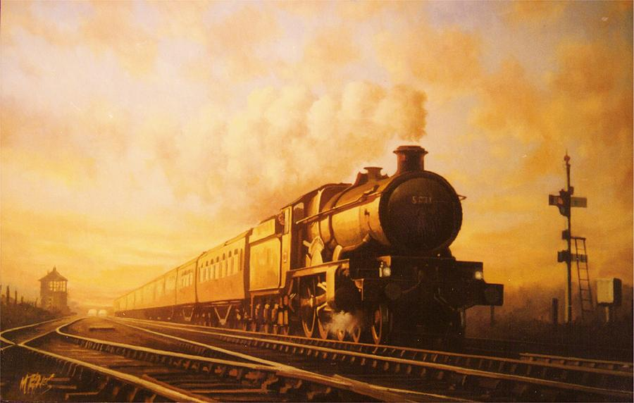 Castle Painting - Up Express To Paddington by Mike  Jeffries