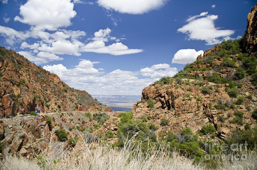 Arizona Photograph - Up From Jerome Arizona by Maria Janicki
