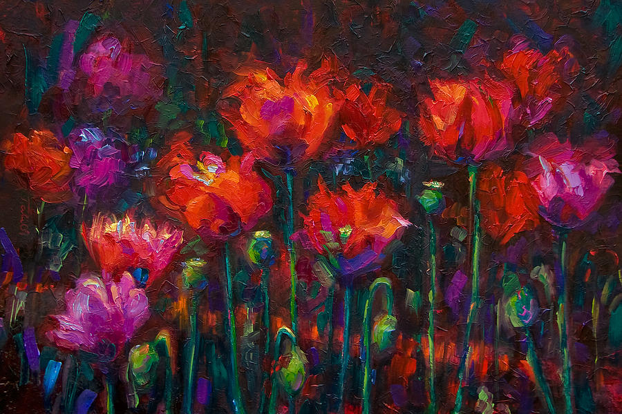 Poppy Painting - Up From The Ashes by Talya Johnson