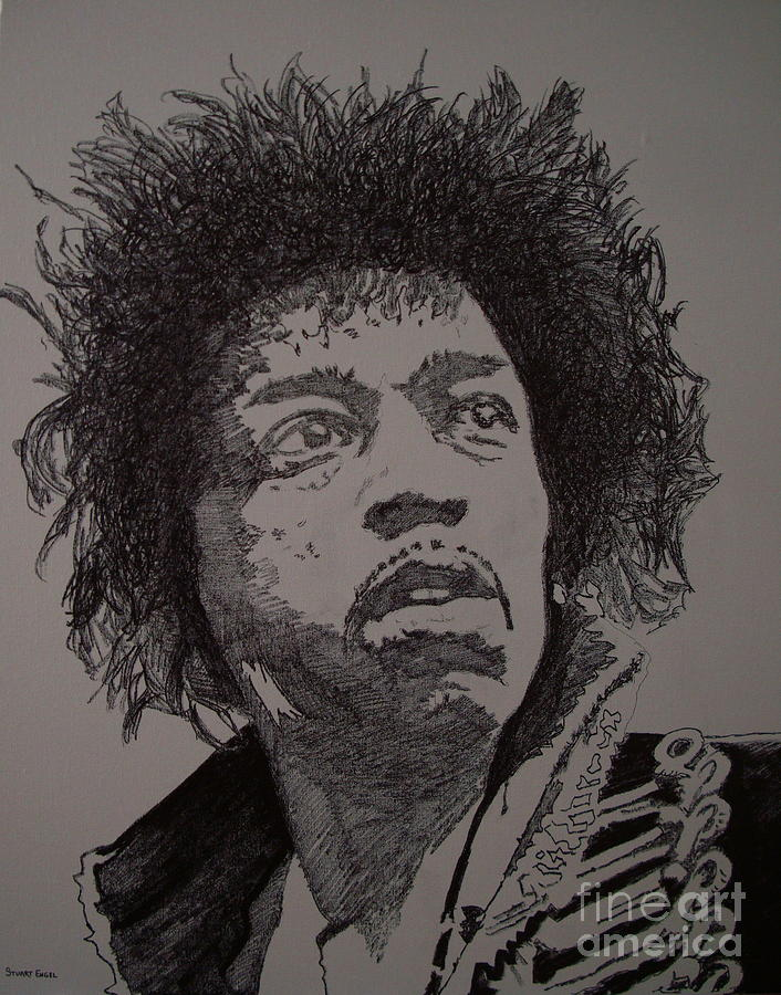 Jimi Hendrix Painting - Up From The Skies by Stuart Engel