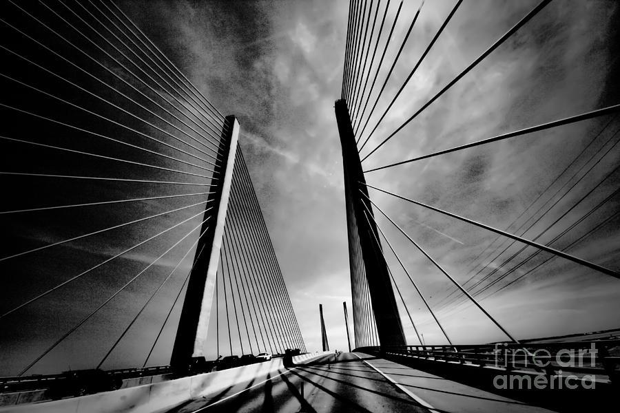 Bridges Photograph - Up N Over by Robert McCubbin