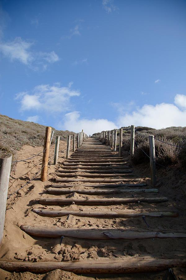 Песчаная садовая лестница
