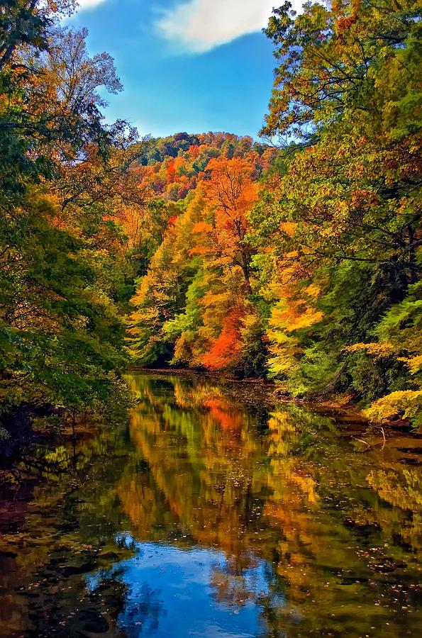 West Virginia Photograph - Up The Lazy River Painted by Steve Harrington