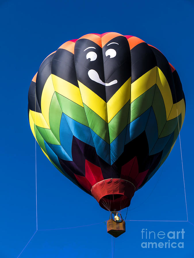 Balloon Photograph - Up Up And Away In My Beautiful Balloon by Edward Fielding