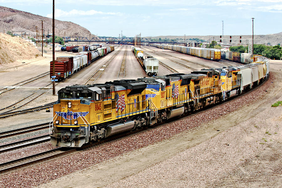 Barstow Photograph - Up8845 Eastbound On The Main Line by Jim Thompson