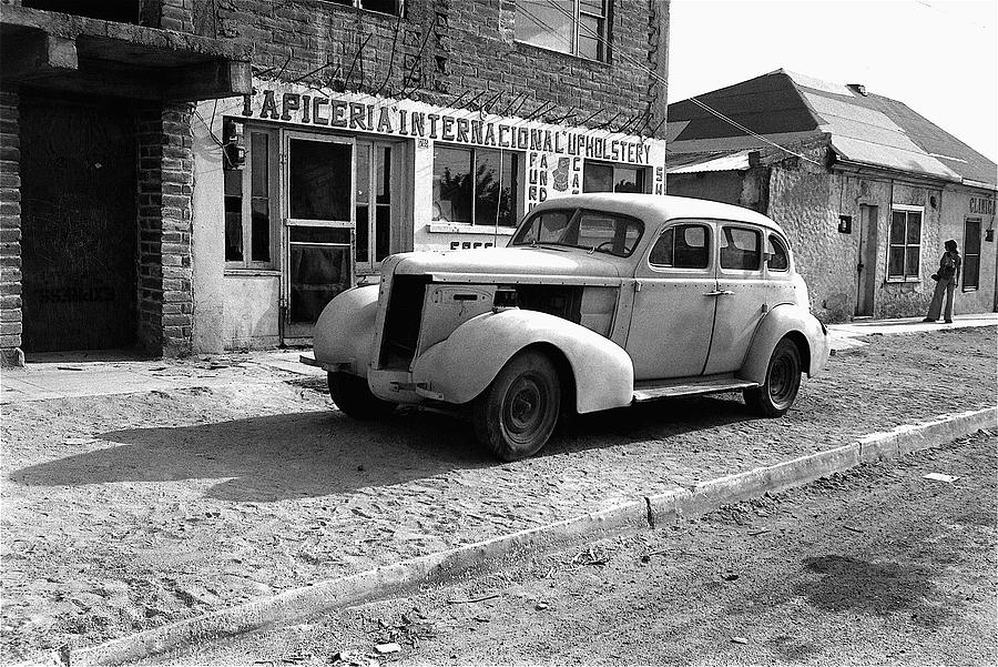 Car Town Iphone >> Upholstery Shop Dental Clinic 1930's Auto Us Mexico Border Naco Sonora Mexico 1980 Photograph by ...