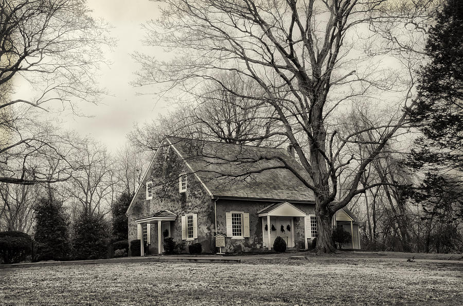 Upper Photograph - Upper Dublin Meetinghouse In Sepia by Bill Cannon