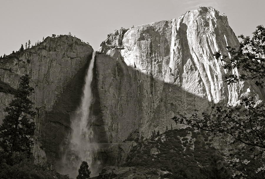 Upper Yosemite Falls Composition In Triangles by Michele Myers