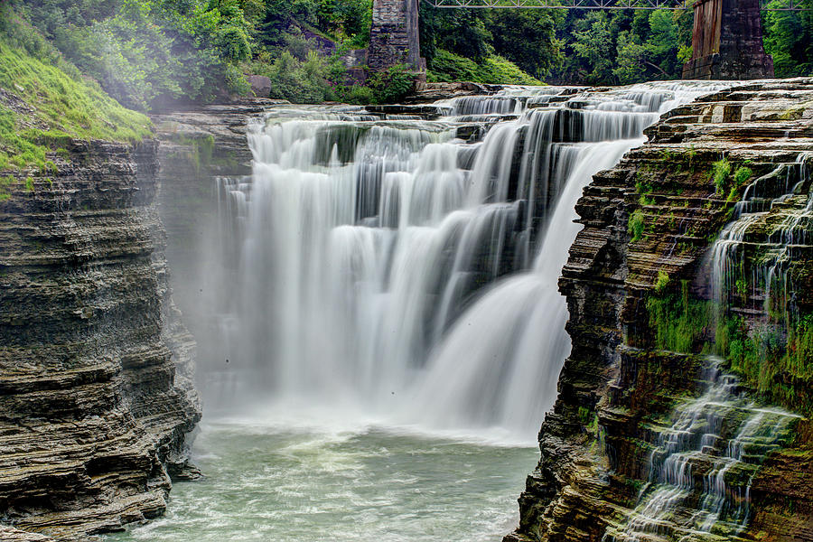 Upper Letchworth Falls Photograph by Tony Shi Photography