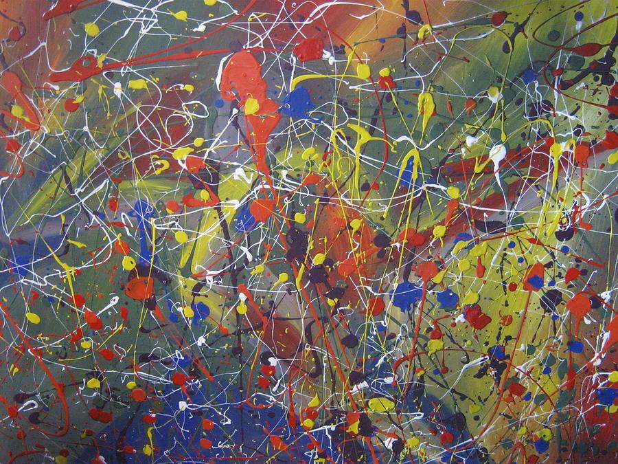 Abstract Painting - Upper Torso by Becky Van Pelt